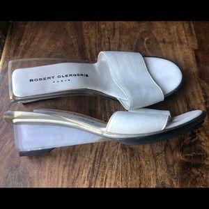 Vintage Robert Clergerie clear acrylic heels 8.5